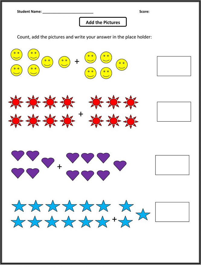 math worksheet fun for kids