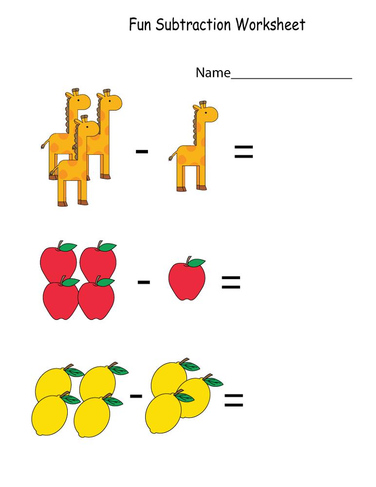 math worksheet fun substraction