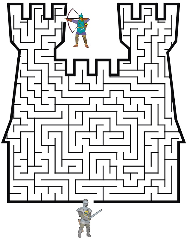 middle ages worksheets maze