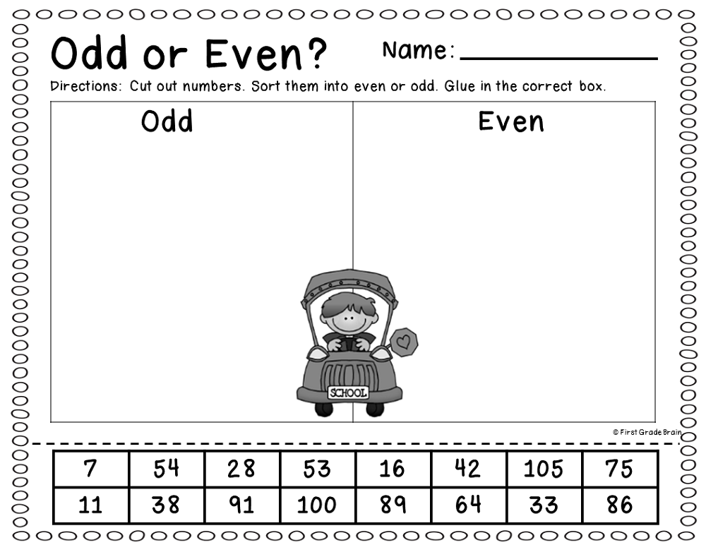 odd even worksheets school