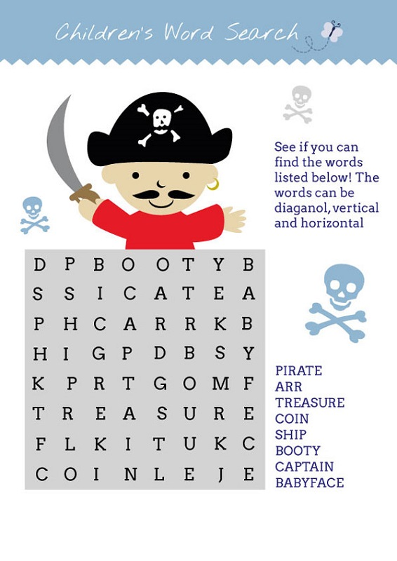 pirate word search simple