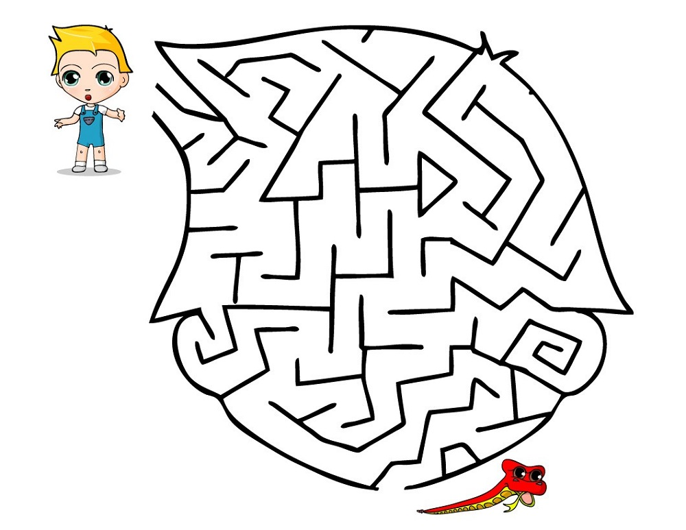 simple mazes for kids free