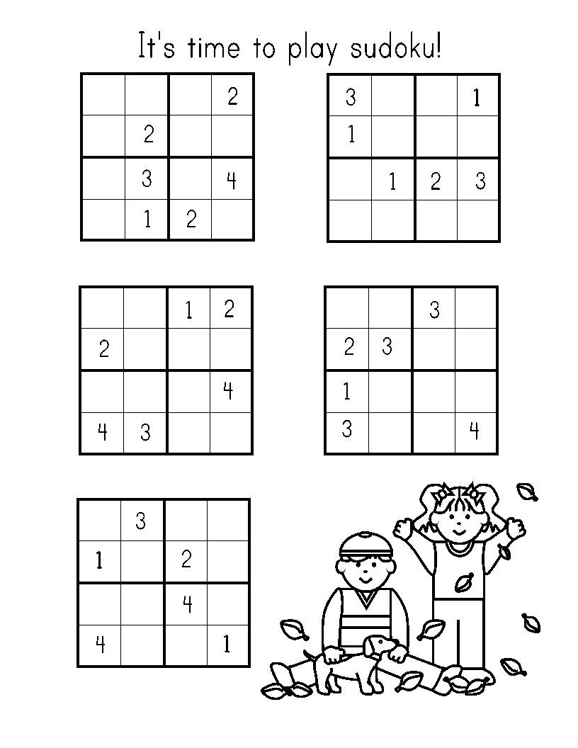 It is an image of Playful Sudoku for Kids Printable