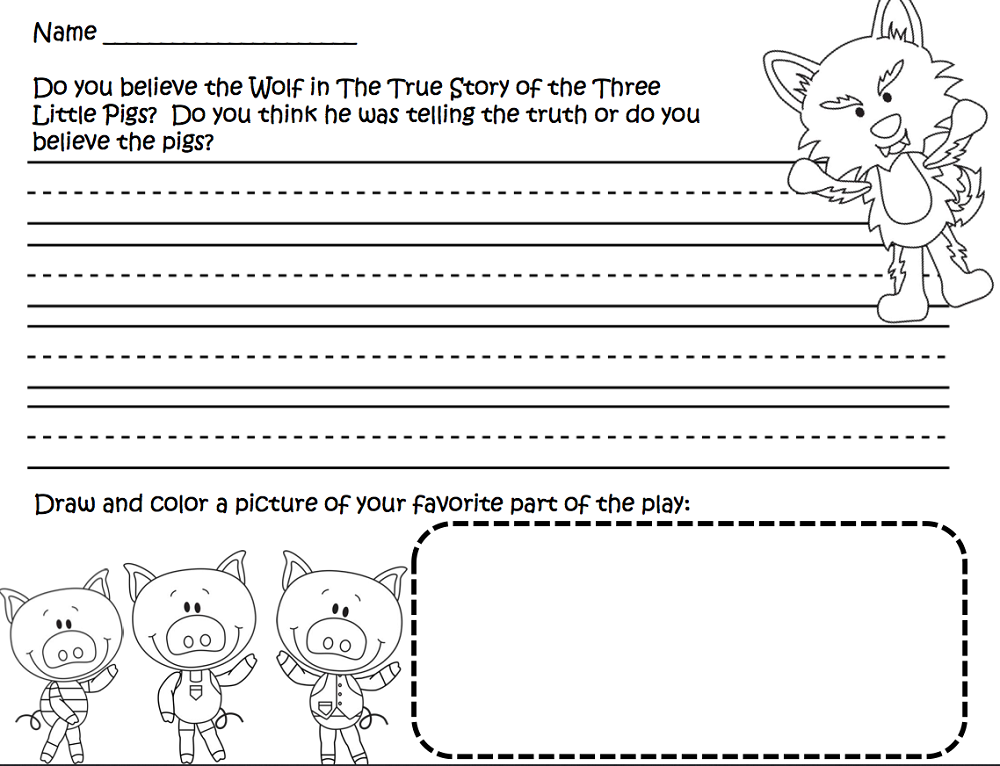three little pigs worksheets 2nd grade