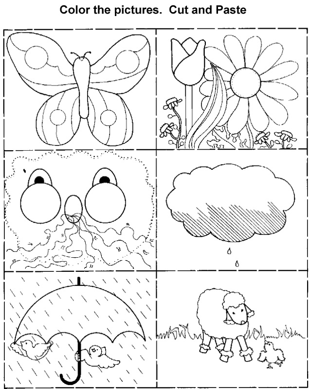 activity sheet for kids color