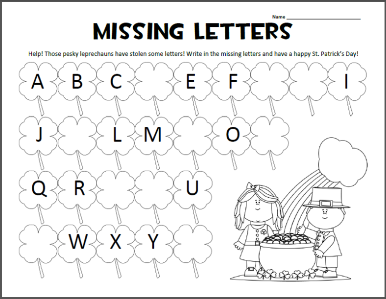 alphabet letter worksheets children