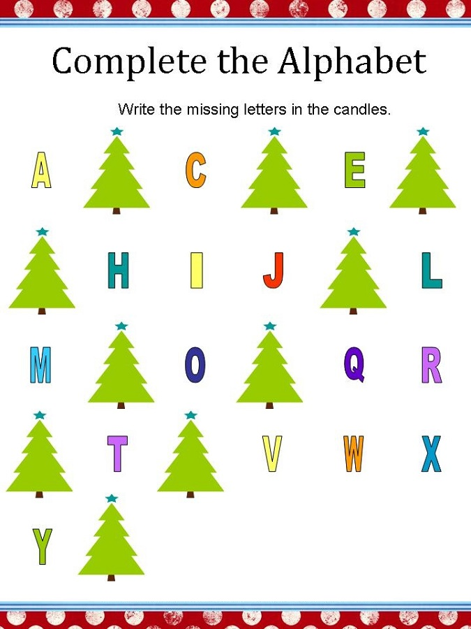 alphabet letter worksheets printable