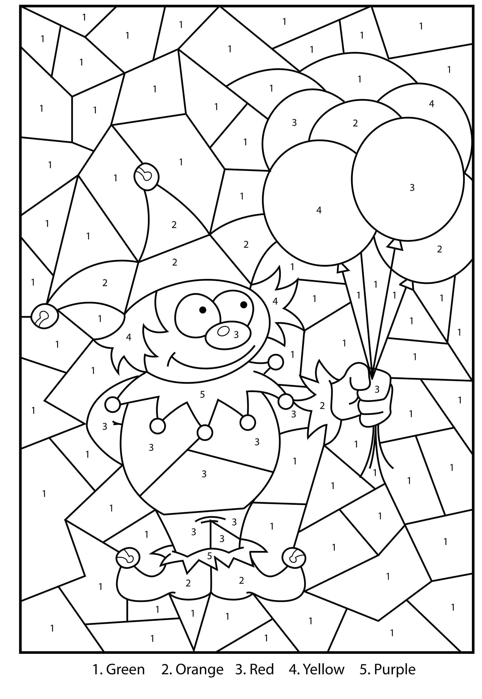 Color by number mosaic printable activity shelter for Activity coloring pages