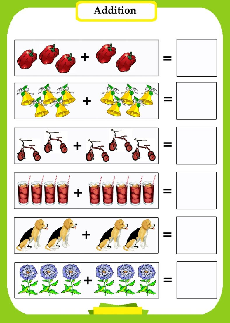 fun math worksheet addition