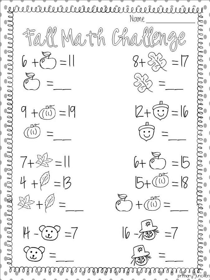 fun math worksheet for kids