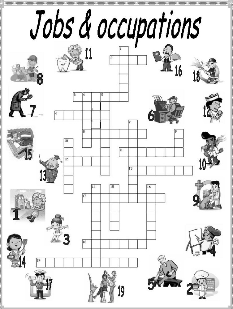 Kids Crossword Puzzles Worksheets | Activity Shelter