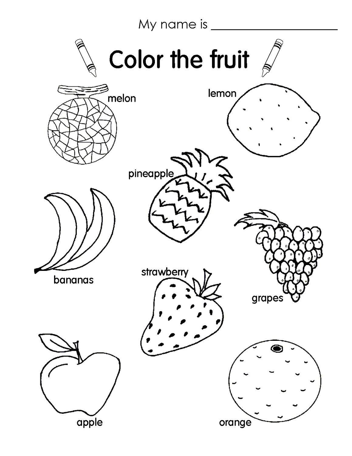 kids fun worksheets color
