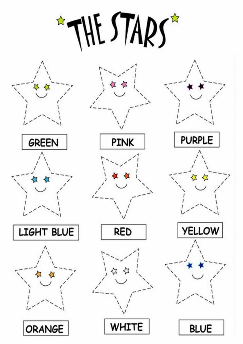 kids fun worksheets stars