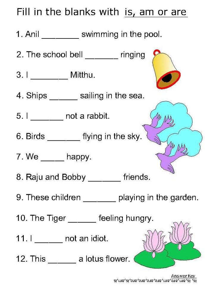 kids work sheets grammar
