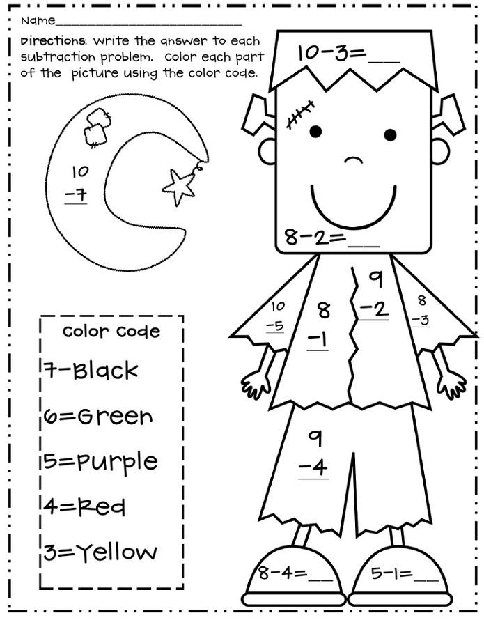 math is fun worksheet color