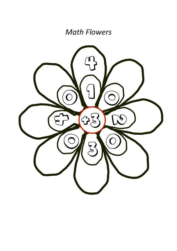 math is fun worksheet flower