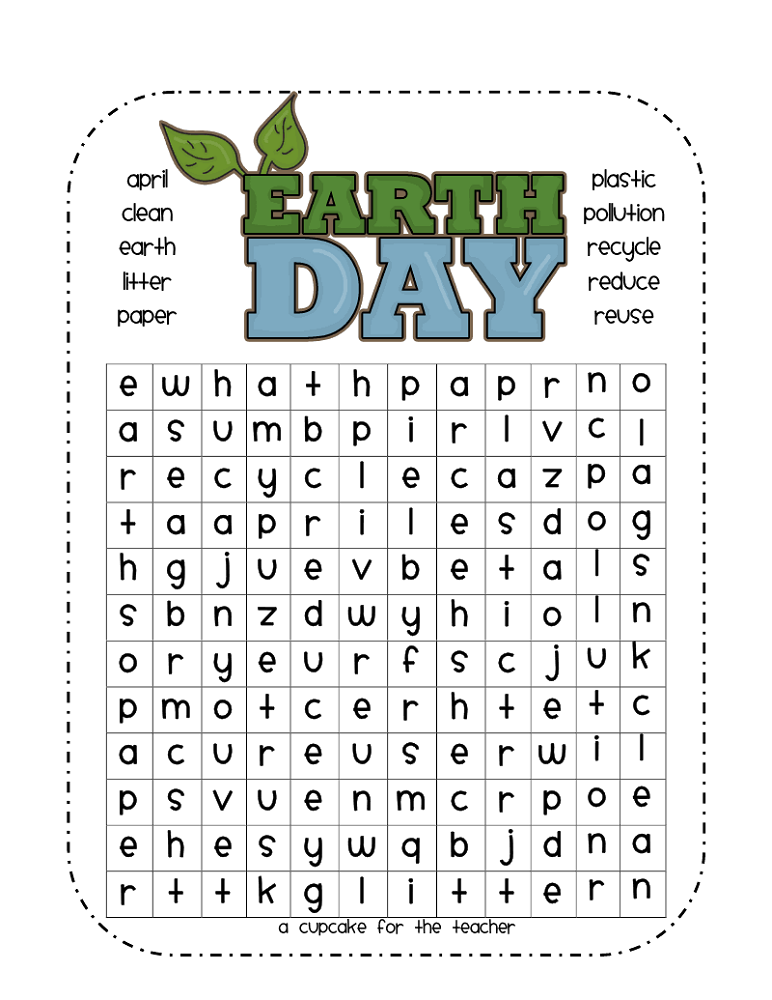 word search easy earth