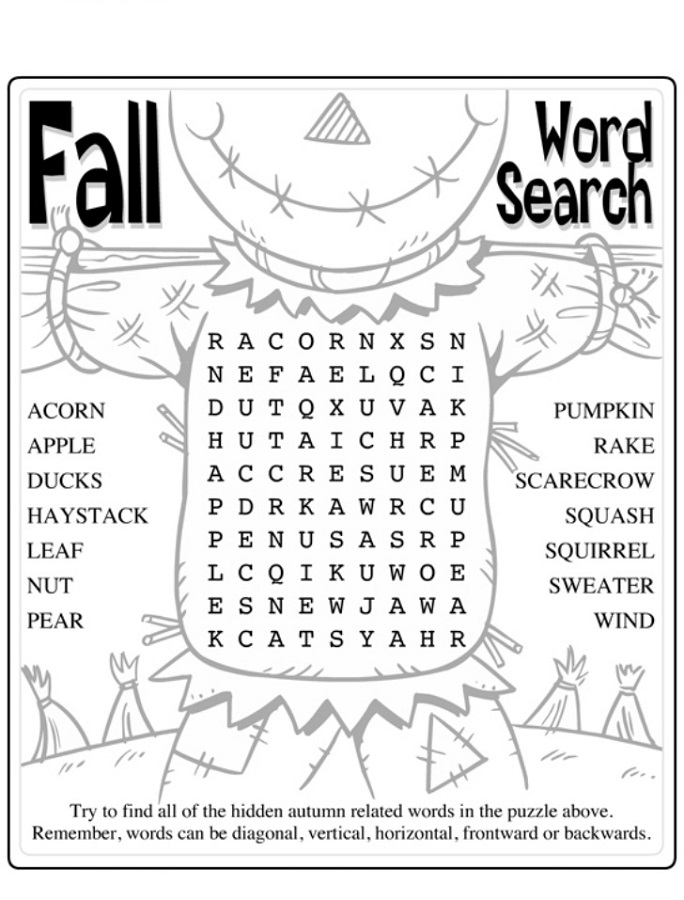 picture regarding Fall Word Search Printable titled Cost-free and Printable Phrase Appear Simple Game Shelter
