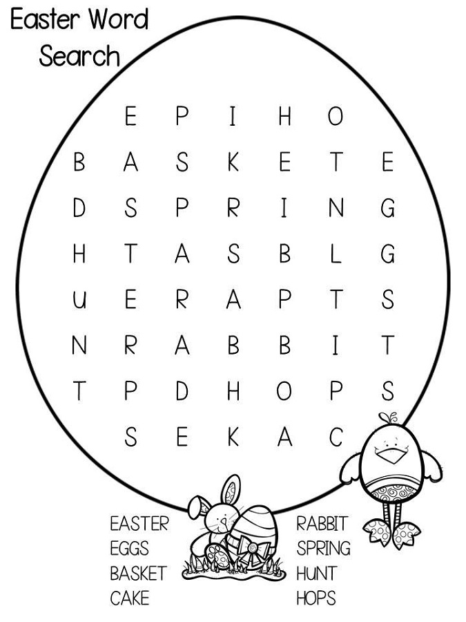 free and printable word search easy
