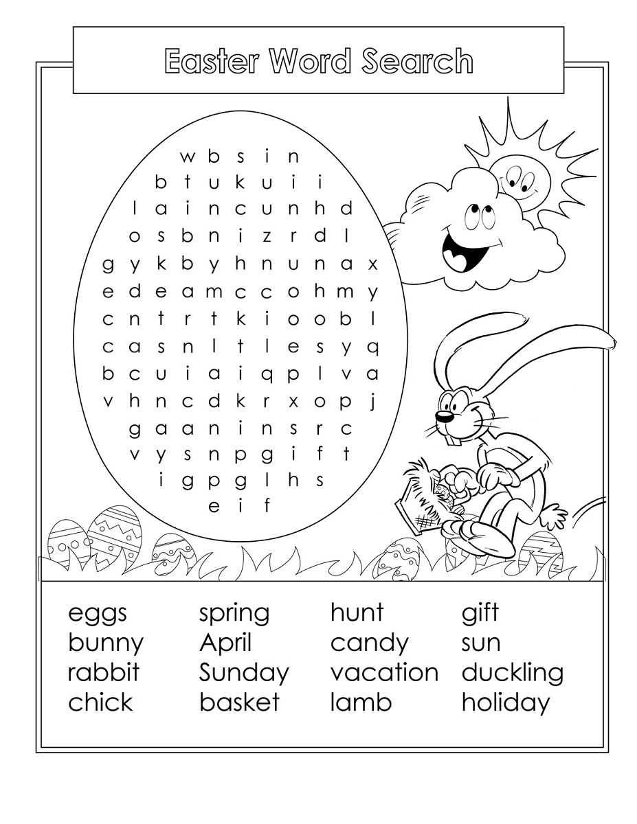 word search for kids easter