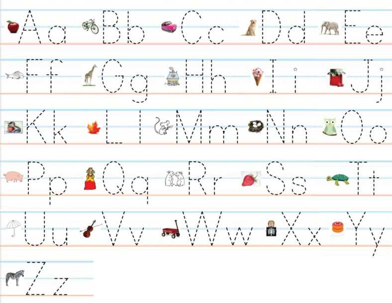 alphabet practice worksheets colorful