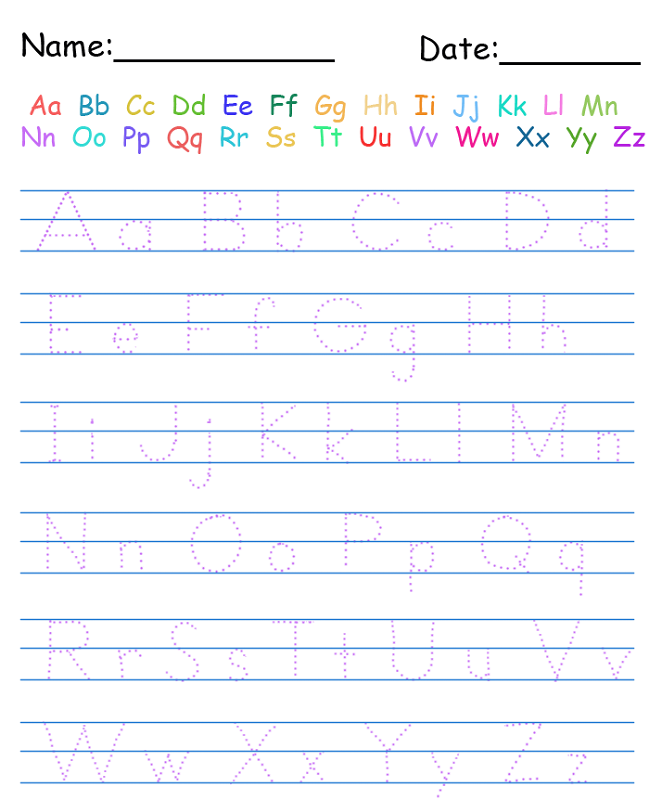 Alphabet Practice Worksheets to Print – Alphabet Practice Worksheets for Kindergarten
