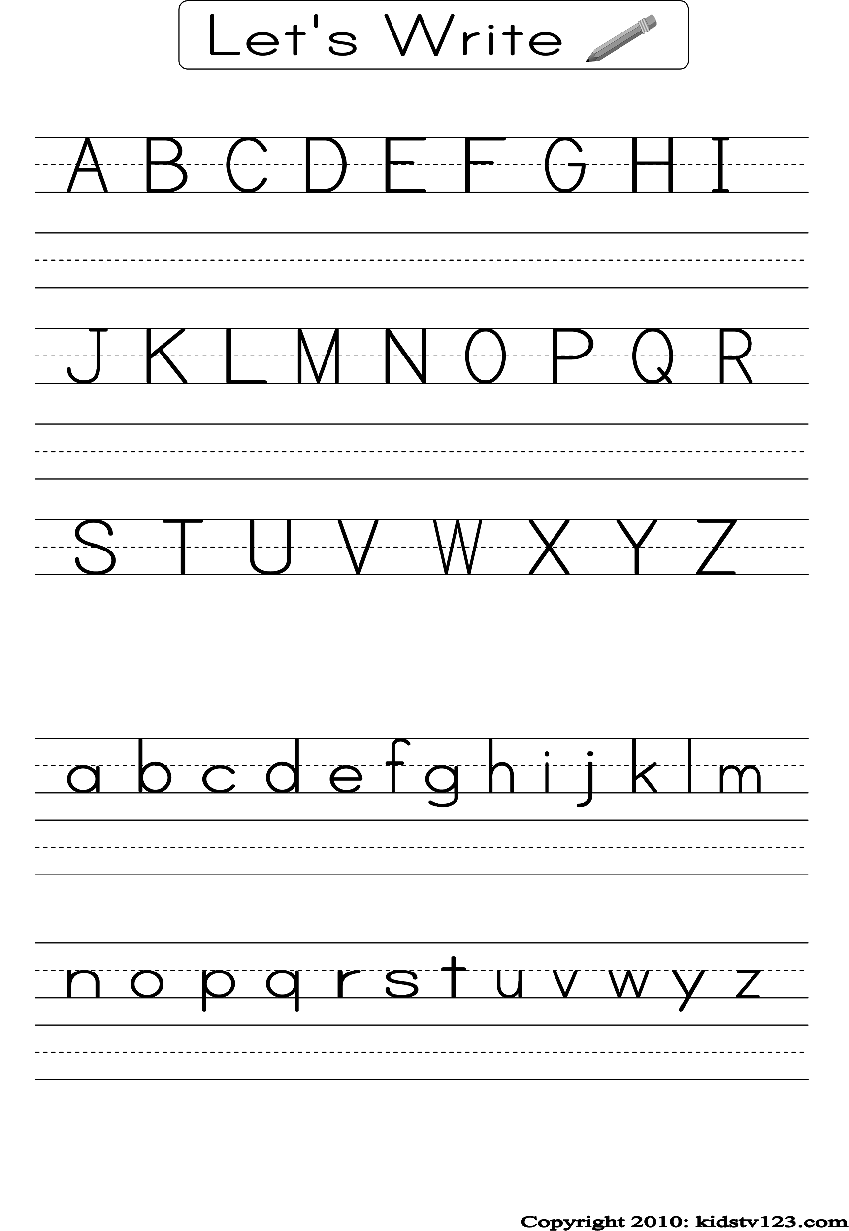 Alphabet Writing Worksheets : Alphabet practice worksheets to print activity shelter