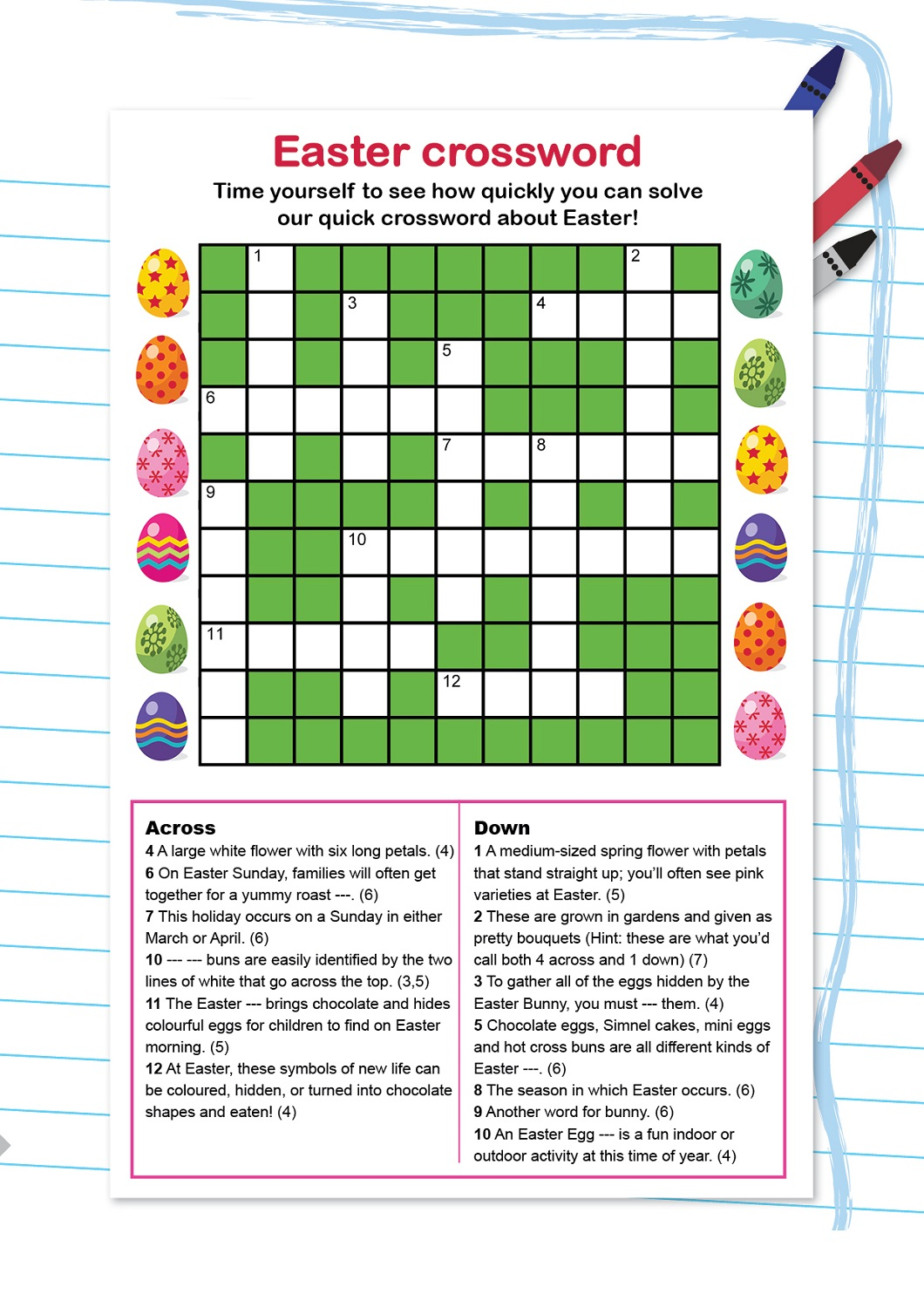 graphic regarding Easter Crossword Puzzles Printable known as Small children Crossword Puzzles in direction of Print Game Shelter