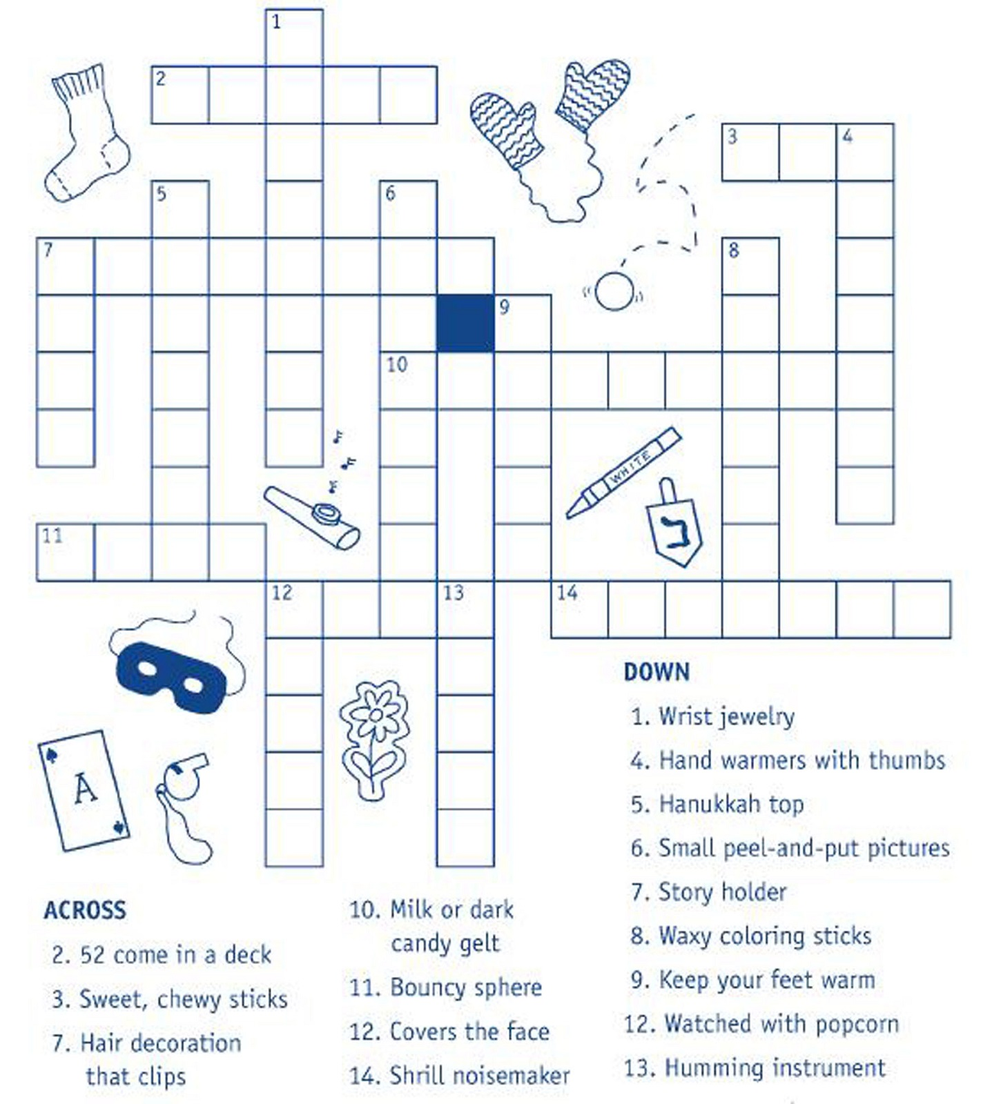 Adaptable image for printable crosswords for kids