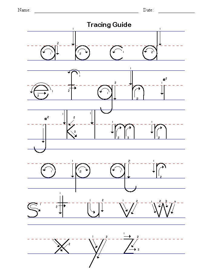 trace letter worksheets free children