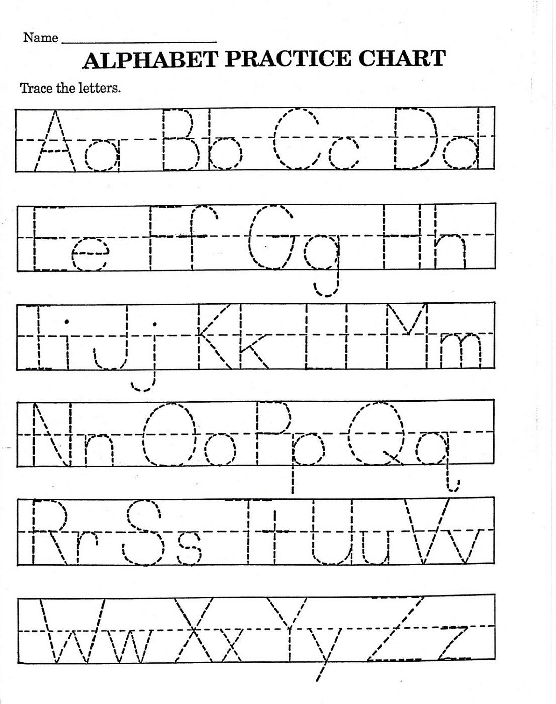 trace letter worksheets free pre k