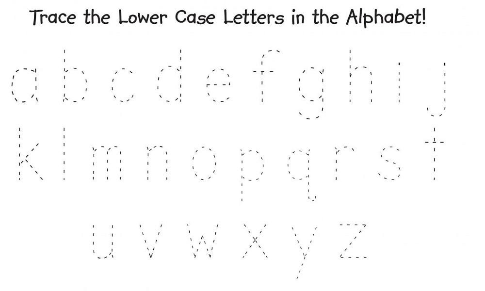 traceable alphabet worksheets children
