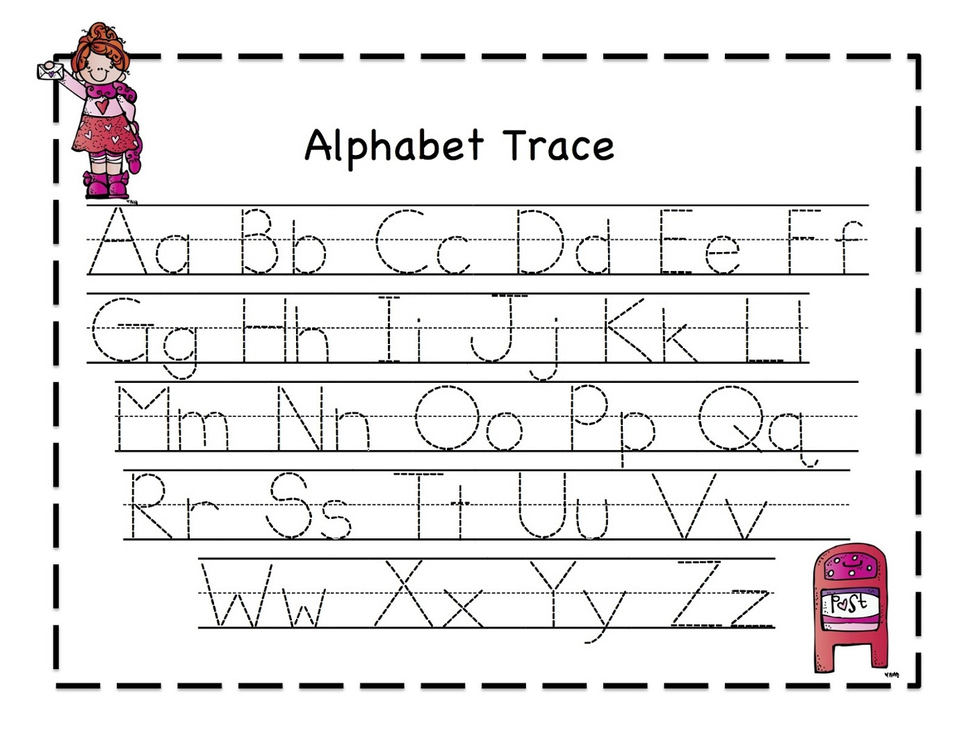 traceable alphabet worksheets free