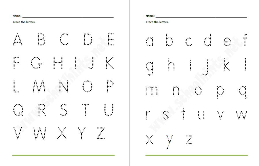 Traceable Alphabet Worksheets – Traceable Letter Worksheets