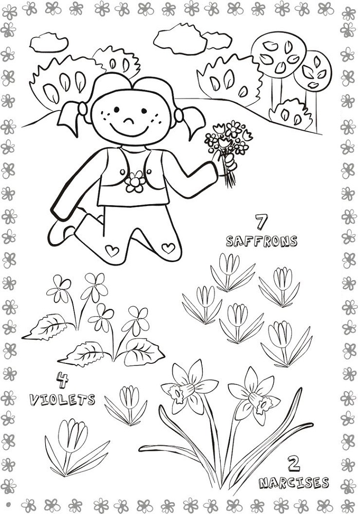 activity pages for kids flower