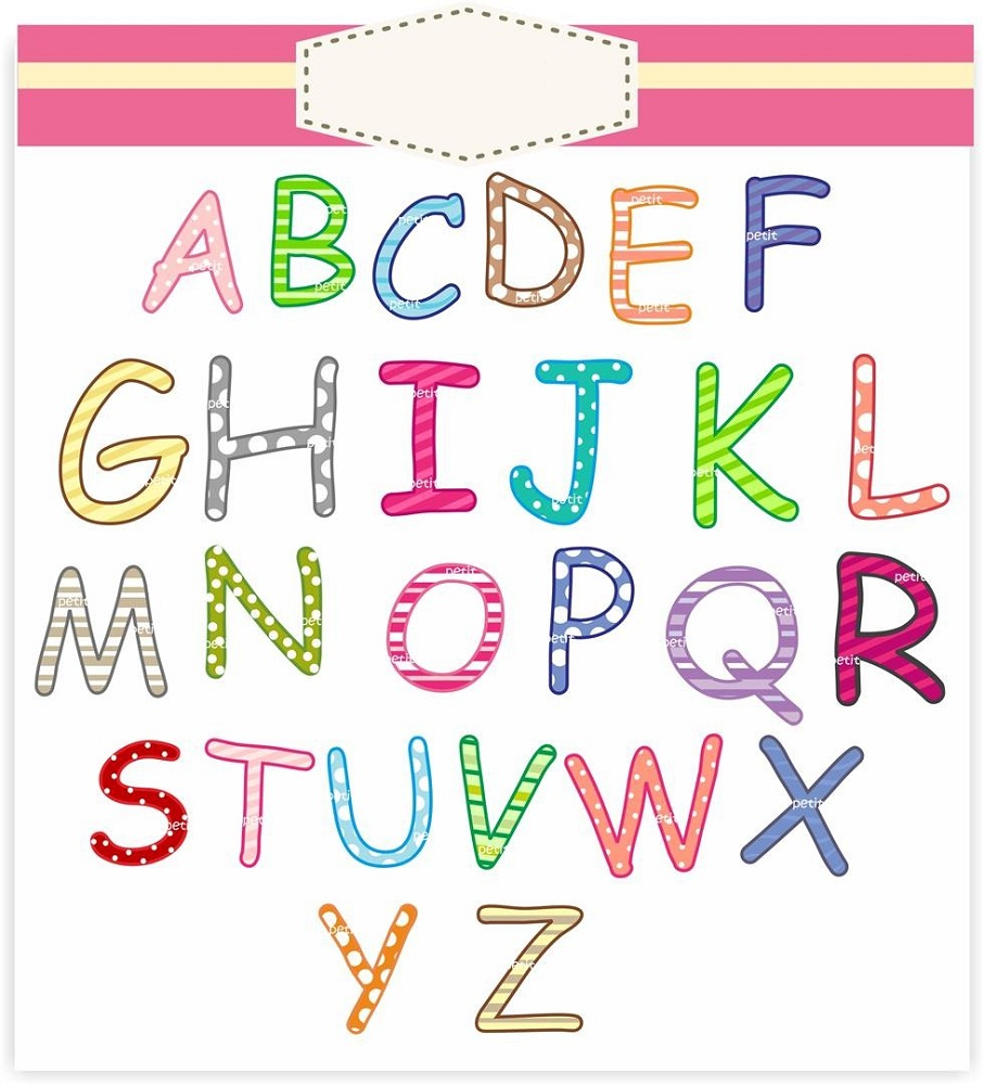capital letter alphabet colorful