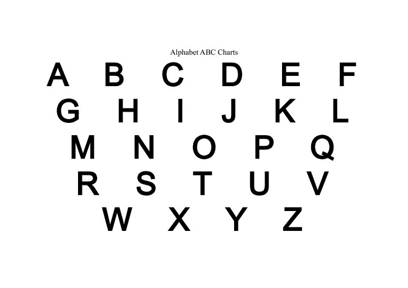 capital letter alphabet free