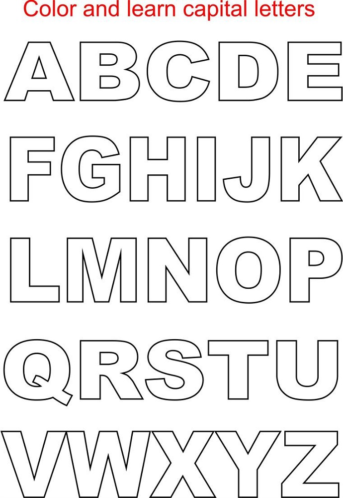 capital letter alphabet printable