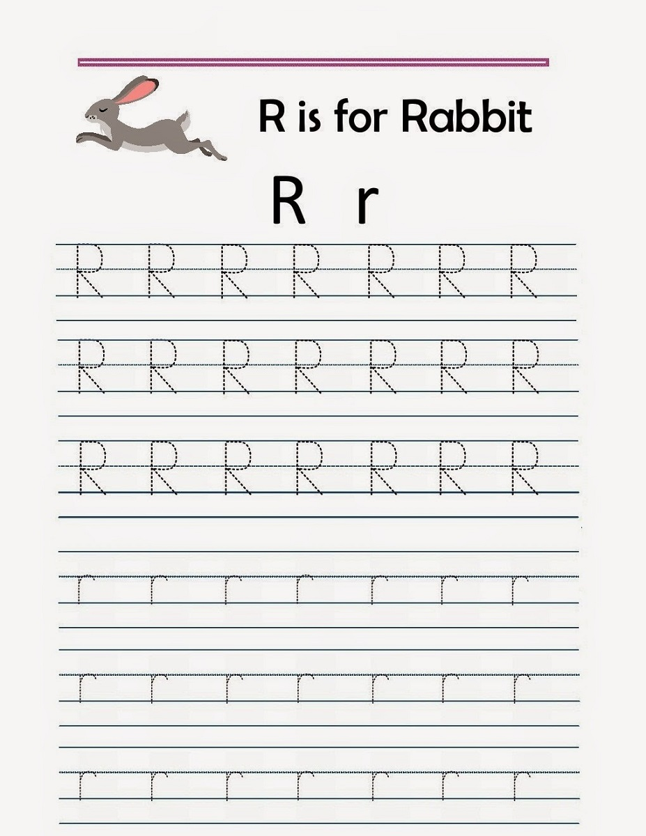 free traceable alphabet worksheets rabbit