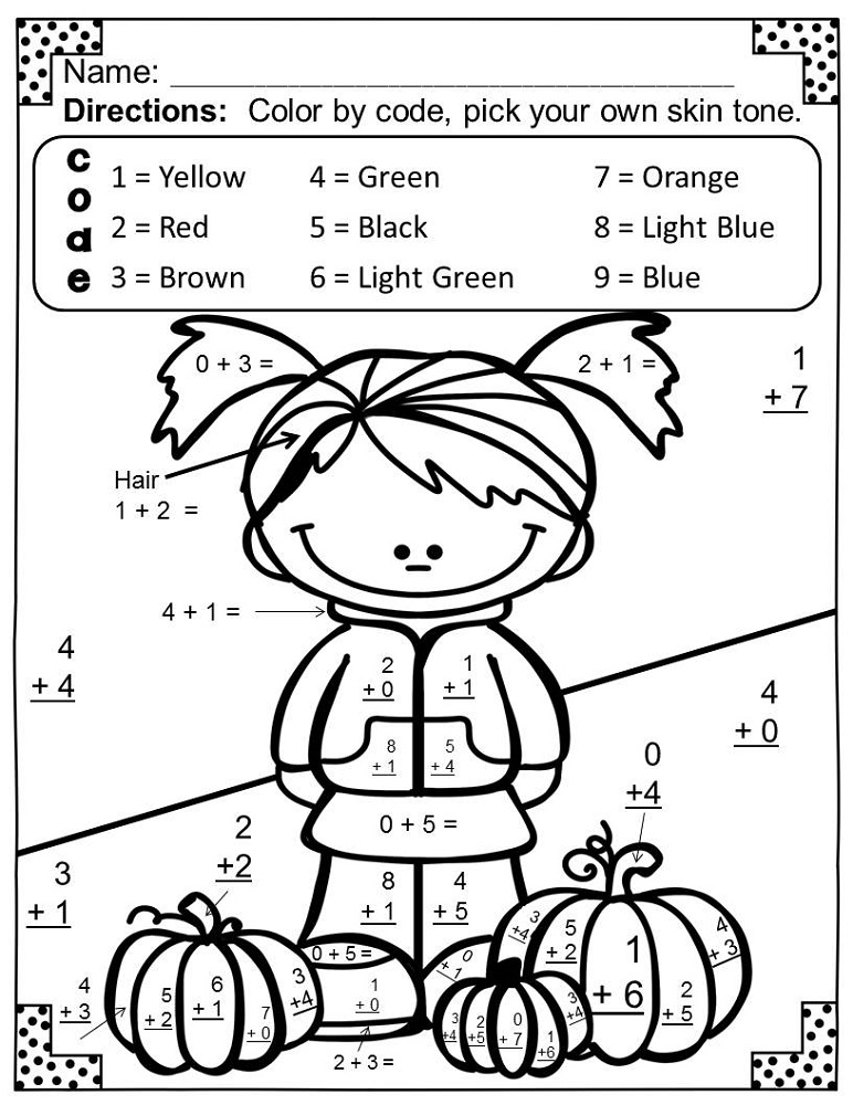 hidden picture math worksheets printable