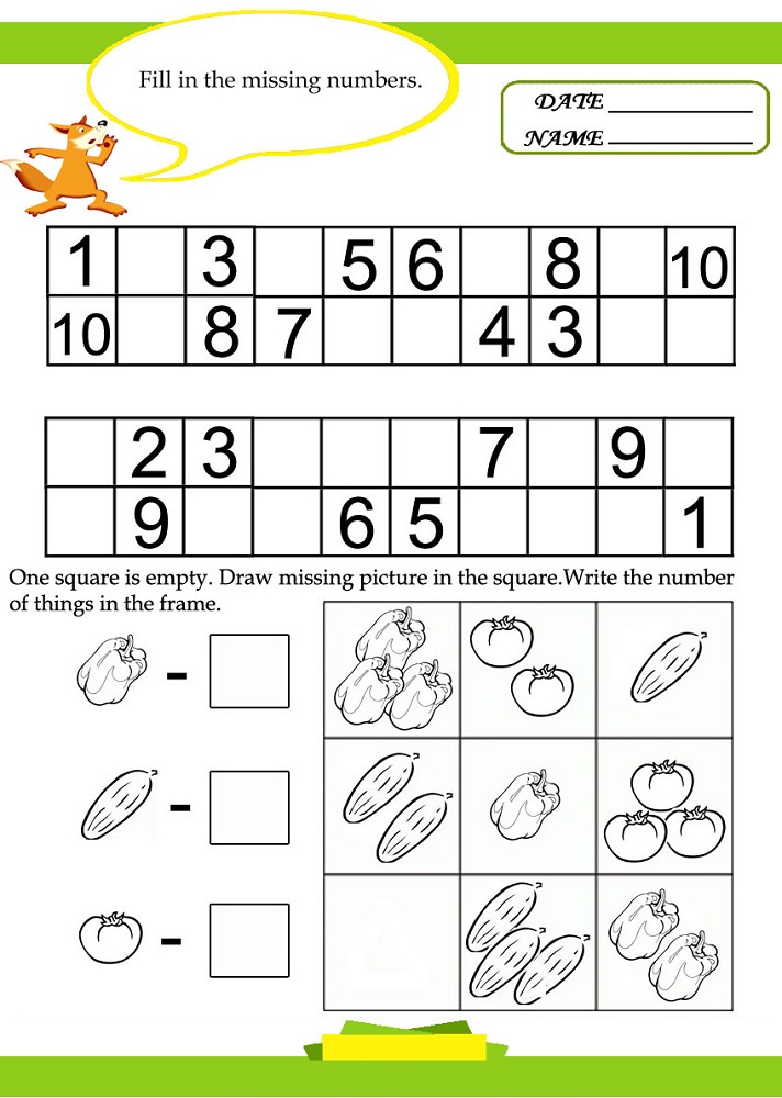 kids activity sheets math