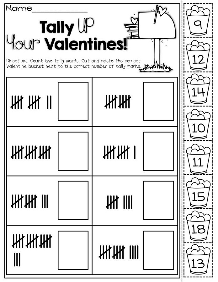 tally marks worksheets kindergarten