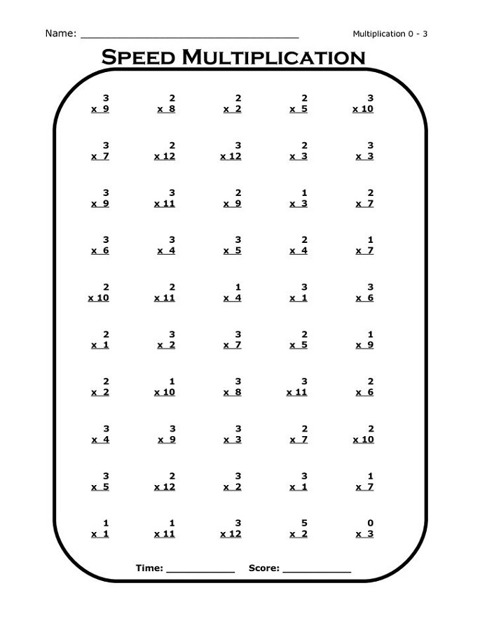 Printable Times Table Worksheets Easy   Activity Shelter