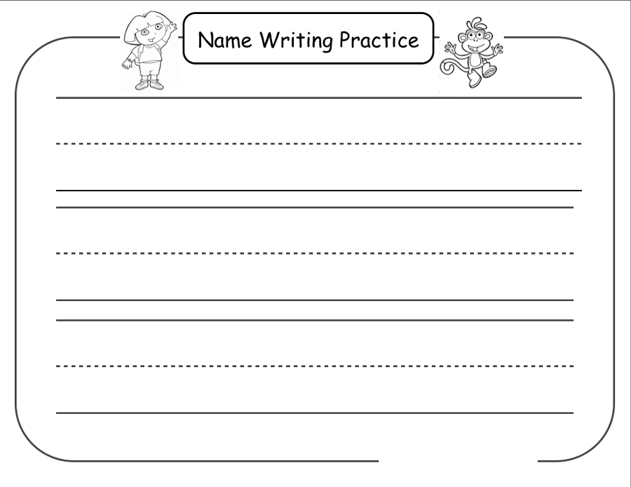 Trace Your Name Worksheets | Activity Shelter