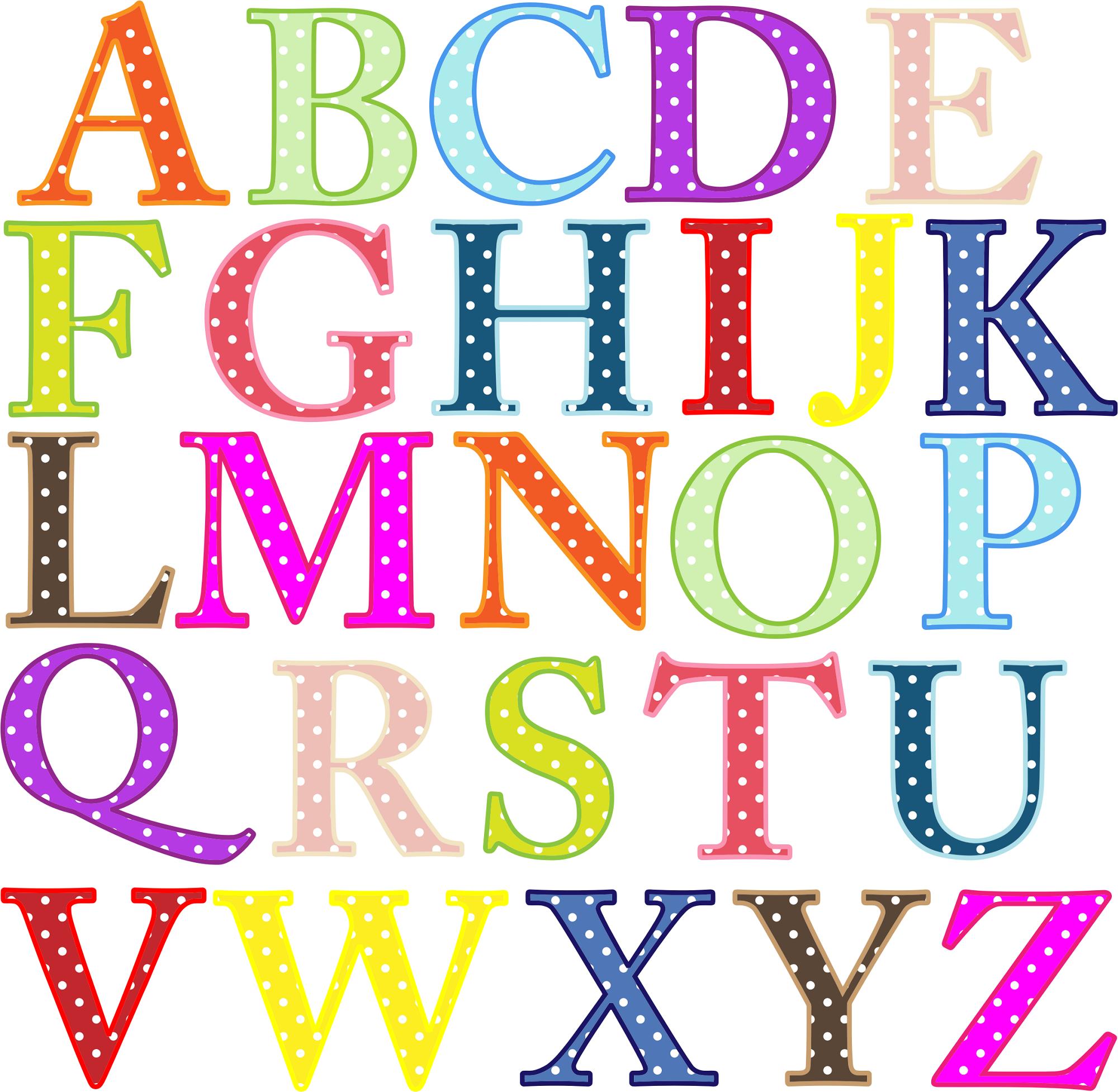 uppercase alphabet letters blink