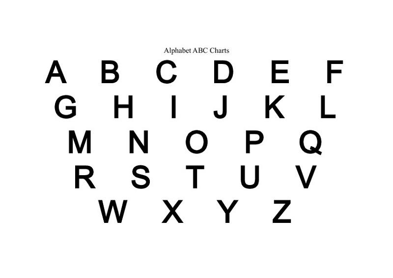 uppercase alphabet letters chart