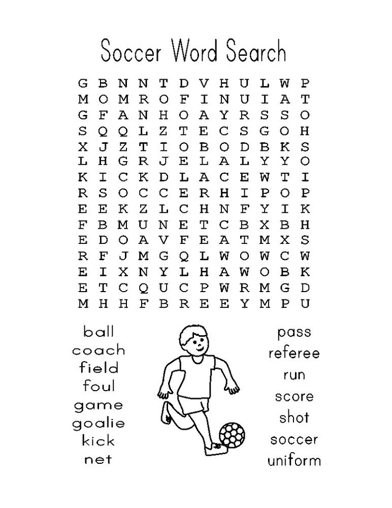 word search football free