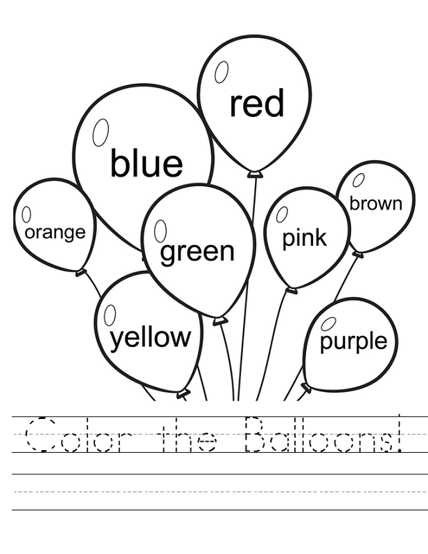 worksheets for two year olds coloring