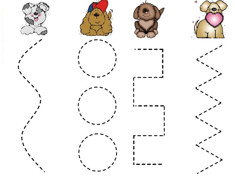 worksheets for two year olds puppy