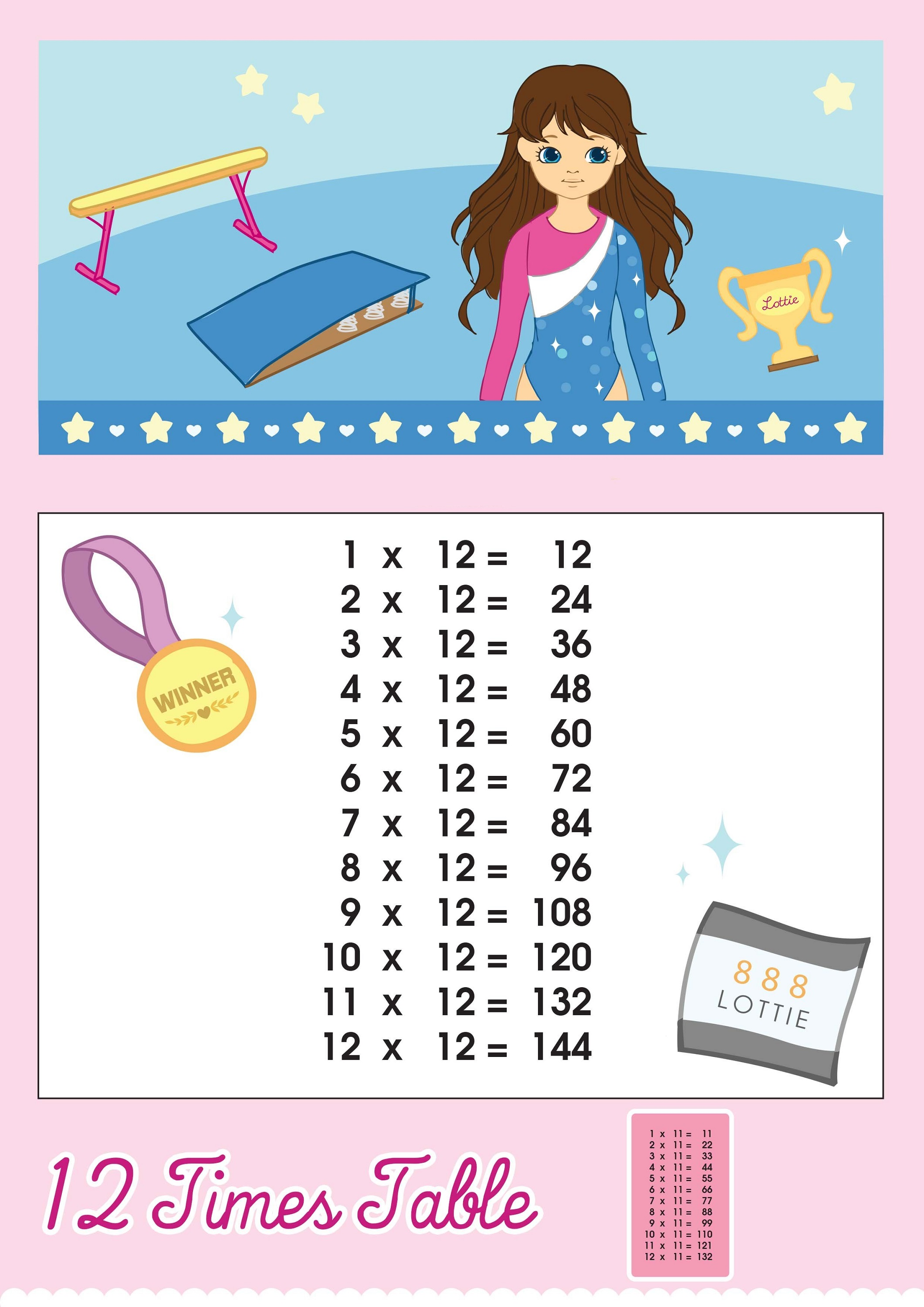 worksheet 6 Times 12 multiplications by 12 times table activity shelter printable